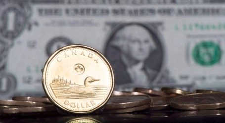 Canadian dollar sinks to 76.35 cents US