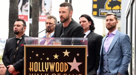 *NSYNC reunites to receive Hollywood Walk of Fame star