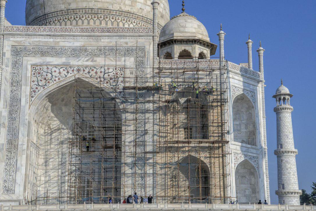 Photo of Taj Mahal headed for a good, long bath