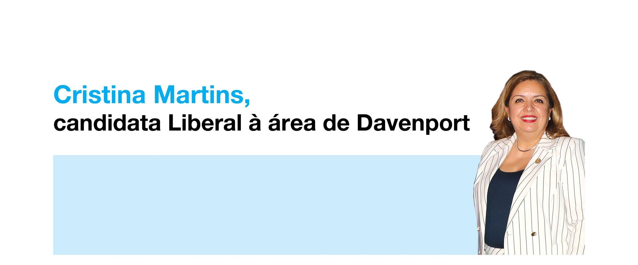 Photo of Cristina Martins, candidata Liberal à área de Davenport