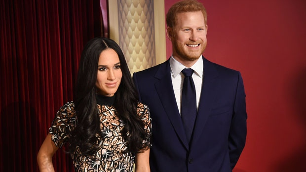 Photo of Meghan Markle waxwork unveiled beside Prince Harry at Madame Tussauds