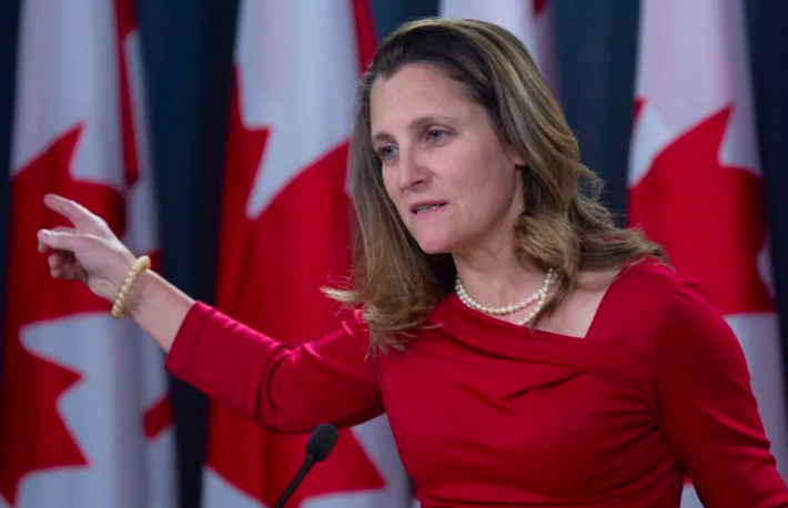 Photo of Freeland to look into approval of Syria's Assad-friendly honorary consul