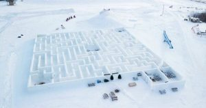 Manitoba snow maze becomes world's largest to break Guinness record-manitoba-mileniostadium