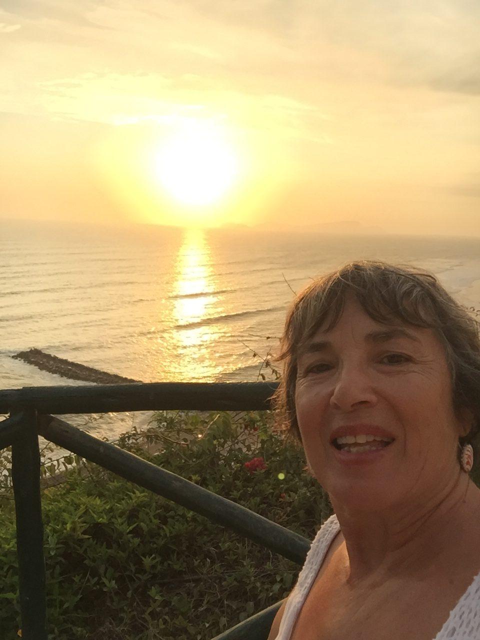 Pôr-do-sol no Oceano Pacífico