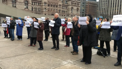 Photo of Protesters call on city to 'save our subway' from provincial takeover, others say more detail needed