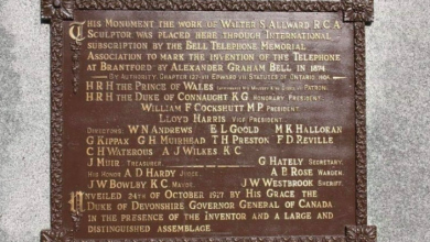 Photo of Someone stole a 101-year-old plaque from the Bell telephone memorial