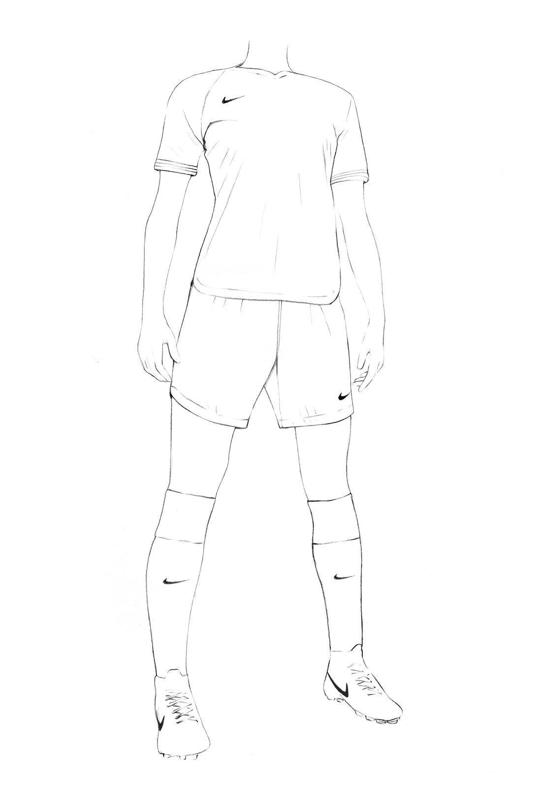 The 2019 Nike women's football kit is the result of three years of physiological testing and perception research. Illustration by Caroline Andrieu. Nike
