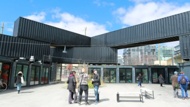 Photo of Downtown market made of 120 shipping containers is now open for business