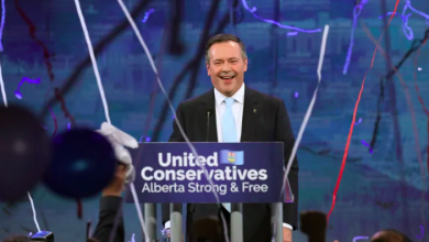 Photo of Jason Kenney rides UCP wave to majority government in Alberta