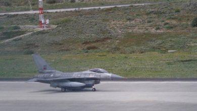 Photo of Aterraram três F-16 no Aeroporto do Porto Santo