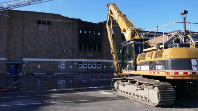 Photo of Heavy equipment to begin demolishing parts of school ravaged by fire