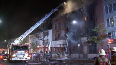 Photo of Firefighters battle blaze at former Peacock Hotel in the Junction