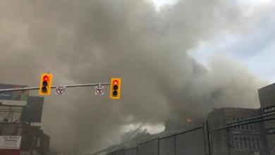 Photo of 5-alarm fire breaks out at York Memorial Collegiate Institute overnight