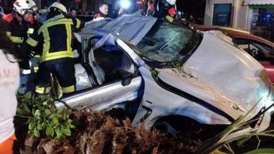 Photo of BMW despistou-se a 180 km/hora no centro de Valência