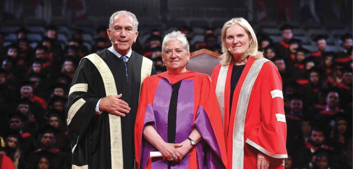 Chancellor Greg Sorbara, Marcie Ponte and President and Vice-Chancellor Rhonda Lenton - Créditos: York University