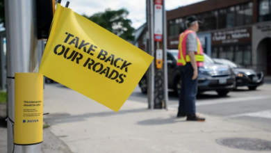 Photo of Aviva makes U-turn on road safety flags after they draw ire of Toronto officials, advocates