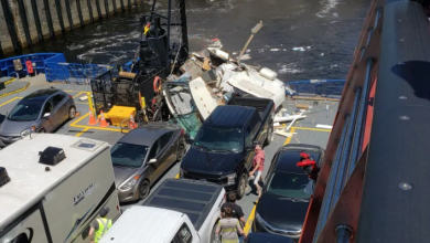 Photo of Driver killed after RV crashes onto Tadoussac ferry