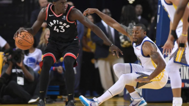Photo of Raptors cruise to 2-1 series lead over injury-depleted Warriors