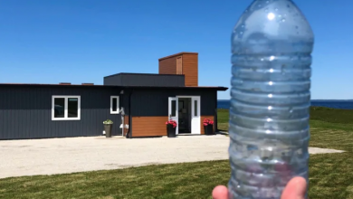 Photo of This house was built using 600,000 recycled plastic bottles