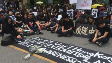 Photo of Hundreds in Toronto hold sit-in to show support for Hong Kong protesters