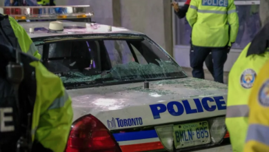 Photo of Toronto police seek 8 men after cruiser damaged during Raptors celebrations
