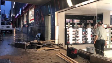 Photo of Driver hits pedestrian, causes 'extensive' damage to drugstore