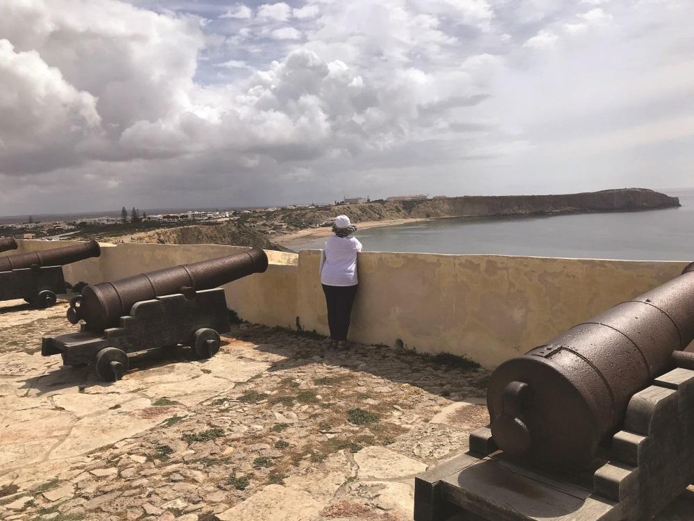Praia vista da fortaleza