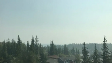 Photo of Heavy smoke in parts of N.W.T., air quality statement in effect