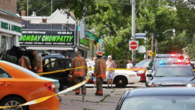 Photo of Police search for man after car slams into bookstore near Coxwell and Gerrard