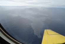 Photo of Hibernia resuming production after 12,000 L spill shut it down for nearly a month