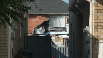 Photo of Brampton house explosion caused by exploding alcohol still, police say