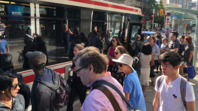 Photo of 2 fires disrupt morning rush on TTC Line 1