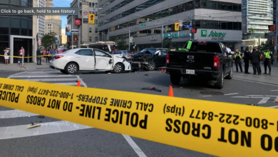 Photo of 4 taken to hospital after serious crash at College and Bay