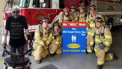 Photo of Firefighters to help Barrie, Ont. man reach $1M goal for Terry Fox Foundation