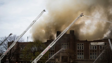 Photo of York Memorial Collegiate Institute fire deemed accidental but cause still unknown