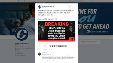 Photo of Conservatives forced to delete tweet alleging Trudeau under RCMP investigation