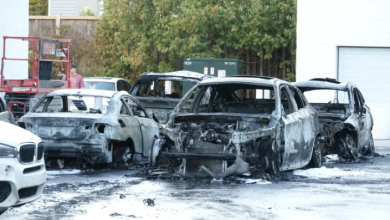 Photo of Police investigating fire that destroyed cars at BMW dealership
