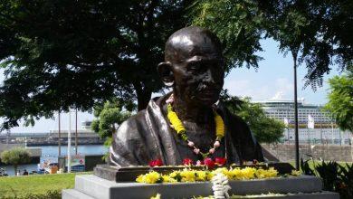 Photo of Busto de Gandhi inaugurado na Praça do Povo