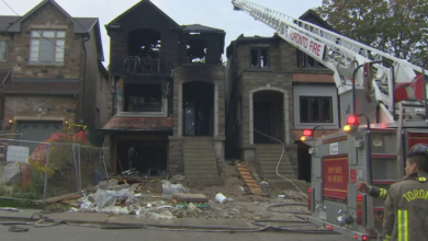 Photo of Home under construction partially collapses after fire breaks out in Scarborough