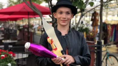 Photo of For this 11-year-old street performer, busking is serious business