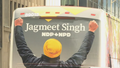Photo of NDP election campaign kicks off, unveiling tour bus and headquarters