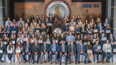 Photo of LiUNA Local 183  atribuiu 72 bolsas de estudo