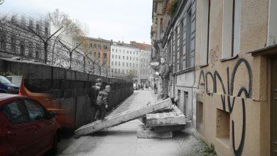 Photo of Fusão de imagens mistura o antes e o depois do Muro de Berlim na mesma fotografia