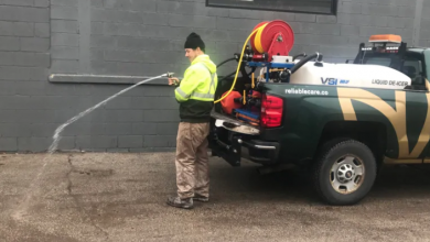 Photo of Road salt is so pricey, this snow remover sprays brine instead