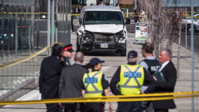 Photo of TV shoot for 'The Boys' at site of Yonge Street van attack cancelled