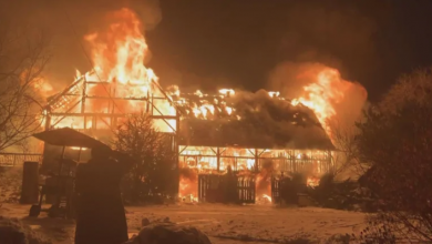 Photo of Fire destroys barn at family farm in Mount Albert