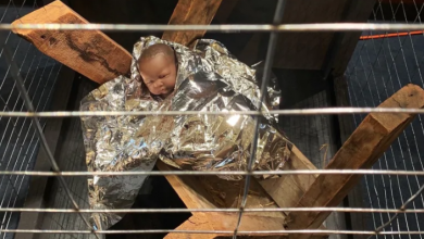 Photo of Toronto church cages baby Jesus to bring awareness to plight of asylum seekers