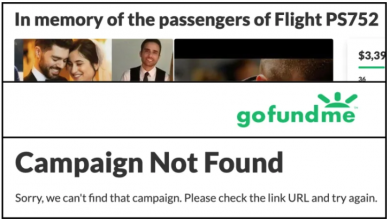Photo of Iran plane crash fundraisers shut down by GoFundMe without explanation