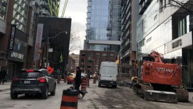Photo of City looks at denying condo developers permits to block sidewalks, traffic lanes