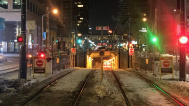 Photo of Driver follows streetcar into Queens Quay tunnel, makes it 600 metres to Union Station